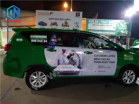Quảng cáo taxi Ninh Bình