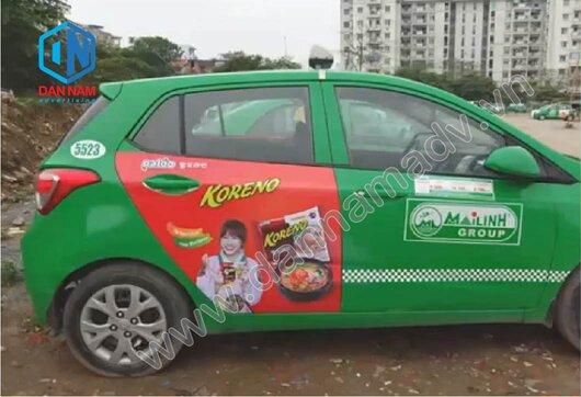 Quảng cáo trên taxi Mai Linh Ninh Thuận chuyên nghiệp