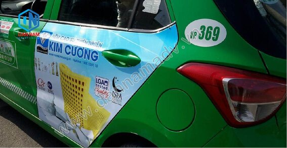 Quảng cáo taxi Mai Linh Phú Thọ - Nệm Kim Cương