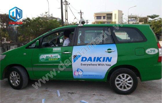 Quảng cáo trên taxi tại Quảng Ngãi - Daikin