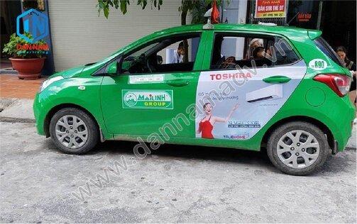 Quảng cáo taxi Quảng Ninh - Máy điều hòa Toshiba