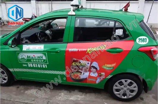 Quảng cáo trên taxi Mai Linh Quảng Trị - Mì Koreno