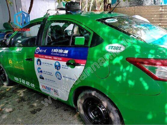 Bộ Y Tế Truyền thông trên taxi Mai Linh 4 chỗ tại Sóc Trăng