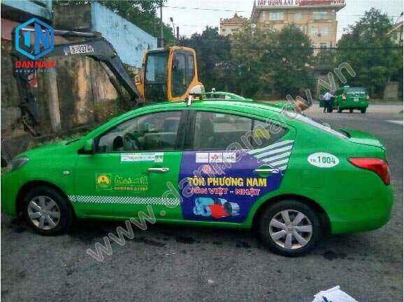Quảng cáo taxi Bà Rịa Vũng Tàu - Tôn Phương Nam