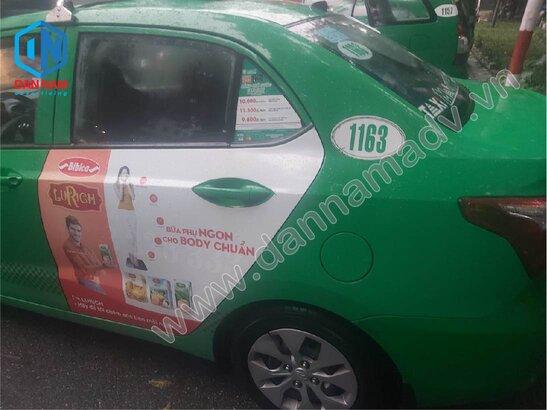 Quảng cáo trên taxi Mai Linh Tây Ninh - Bánh Bibica