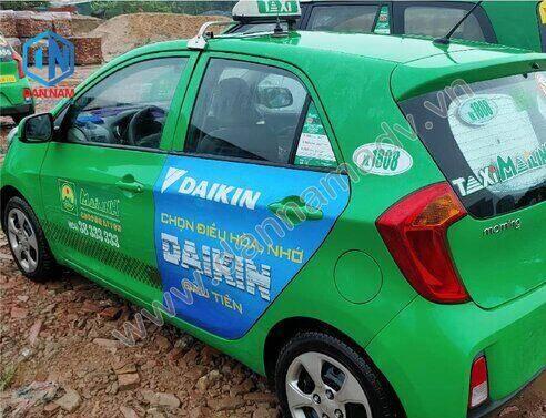Quảng cáo trên taxi Mai Linh Thái Bình - Máy Lạnh Daikin