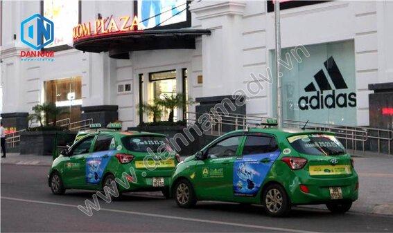 Quảng cáo trên taxi Mai Linh tại Thái Nguyên - Panasonic