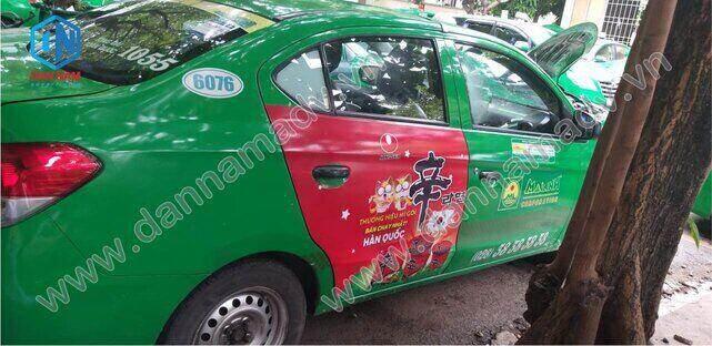 Quảng cáo taxi Mai Linh Tiền Giang - Mì Nongshim