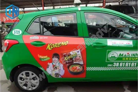 Quảng cáo taxi Mai Linh 4 chỗ tại Trà Vinh - Mì Koreno