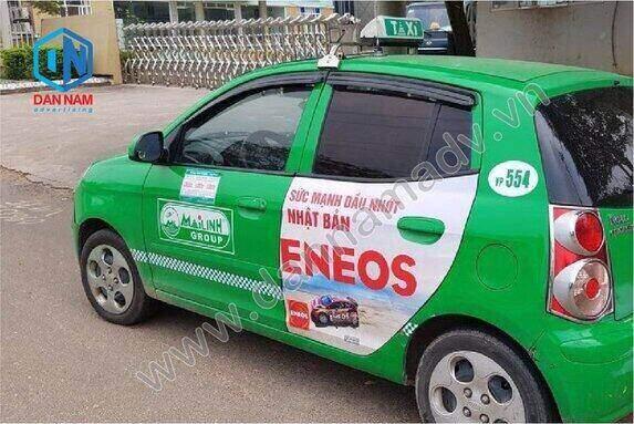Quảng cáo trên taxi Mai Linh tại Tuyên Quang - Dầu Nhớt Eneos