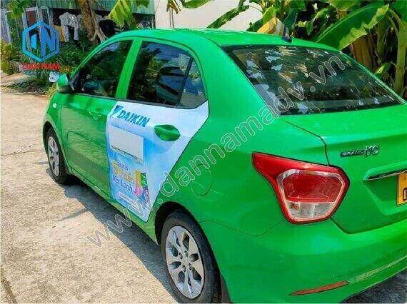 Daikin quảng cáo taxi Mai Linh 4 chỗ tại Vĩnh Long
