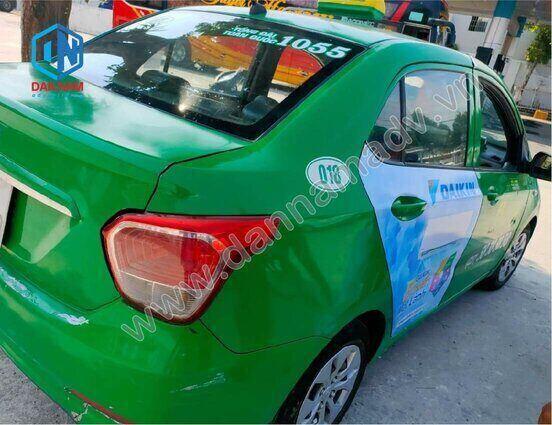 Quảng cáo trên taxi tại Vĩnh Long - taxi Mai Linh