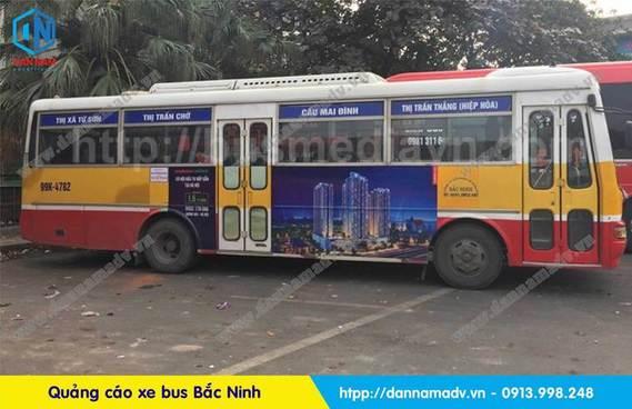 quảng cáo trên xe bus Bắc Ninh