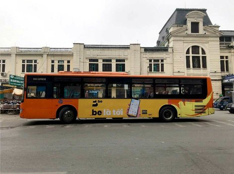 Quảng cáo xe bus Hà Nội