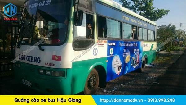 quảng cáo xe bus hậu giang