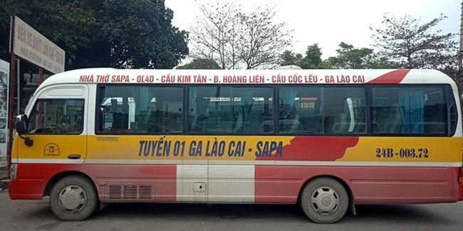 lộ trình xe bus lào cai - sapa