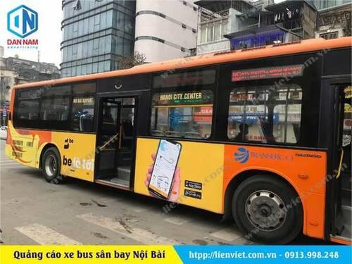 quảng cáo xe bus sân bay nội bài hà nội