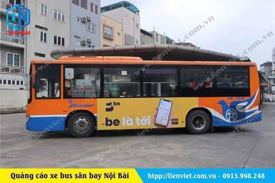 quảng cáo xe bus sân bay nội bài