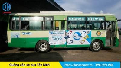 quảng cáo trên xe bus tây ninh