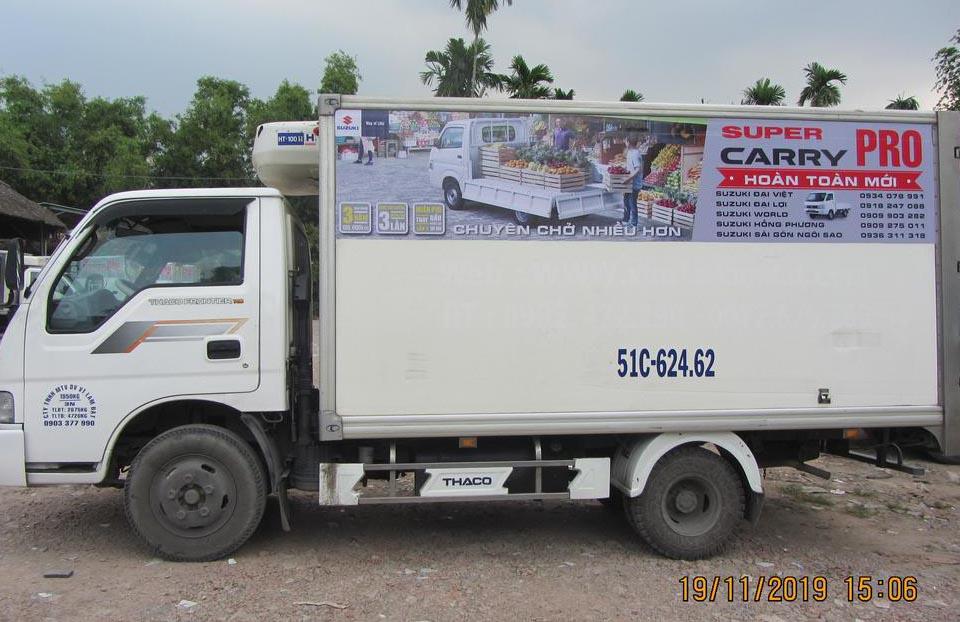 Cho thuê xe tải quảng cáo