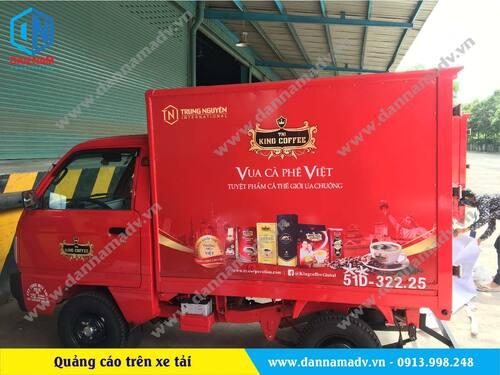 Dán quảng cáo decal xe tải King Coffee – Vua cà phê Việt