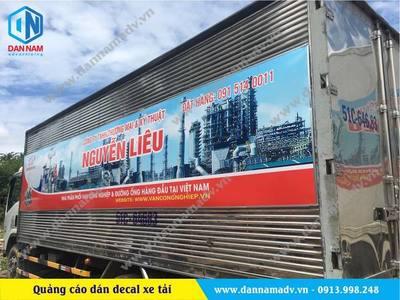 Dán quảng cáo decal hệ thống xe tải Nguyễn Liêu