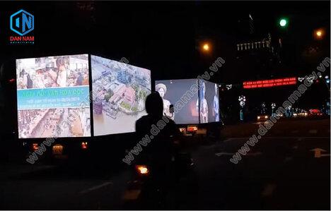 Quảng cáo màn hình Led trên xe tải - Bất Động Sản