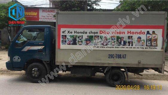 Quảng cáo xe tải tại khu vực Hà Nội - Dầu Nhờn Honda