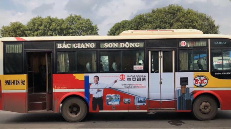 Quảng cáo xe bus bắc giang
