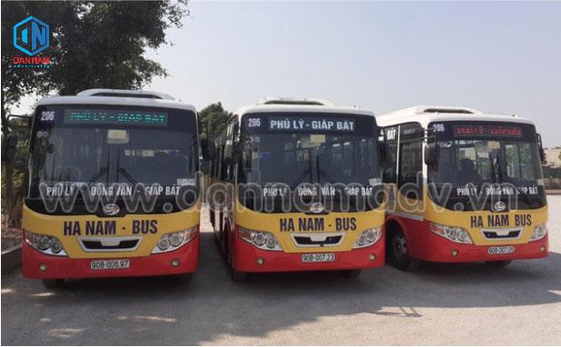 quảng cáo xe bus tại hà nam