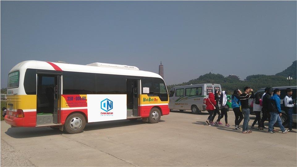 quảng cáo trên xe bus Ninh Bình