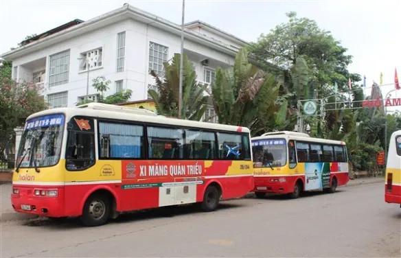 quảng cáo trên xe bus thái nguyên